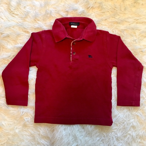 Burberry Other - Burberry Boys Long Sleeve Polo Shirt - US Size 6 0f4c046ab